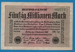 DEUTSCHES REICH 50 Millionen Mark01.09.1923DK-63  060313  P# 109b - [ 3] 1918-1933: Weimarrepubliek