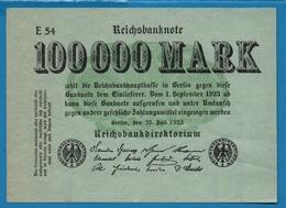 DEUTSCHES REICH 100.000 Mark   25.07.1923# E54  P# 91a - [ 3] 1918-1933 : República De Weimar