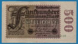 DEUTSCHES REICH 500 Millionen Mark01.09.1923# 47AB.093135  P# 110b - [ 3] 1918-1933: Weimarrepubliek
