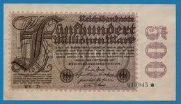 DEUTSCHES REICH 500 Millionen Mark  01.09.1923# WK-21  019945* P# 110d - [ 3] 1918-1933: Weimarrepubliek