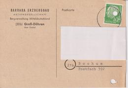 BRD, Karte Barbara Erzbergbau AG Groß-Döhren, 1959, Bergbau - Briefe U. Dokumente