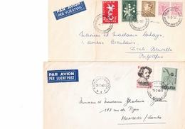 ANTARCTICA- ANTARCTIQUE : Deux Plis De Belgique : Base Antarctique Belge 1959 Et Base Roi Baudouin 1966. - Timbres