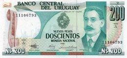 URUGUAY 200 PESOS 1986 P-66a  UNC - Uruguay