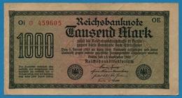 DEUTSCHES REICH 1000 Mark Code OE15.09.1922# Oi * 459603 P# 76b - 1000 Mark