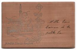 Bosnia - SARAJEVO - Alipasina Dzamija (Ali Pasha's Mosque) - Postcard Made In Wood - Publ. Unknown. - Bosnia And Herzegovina
