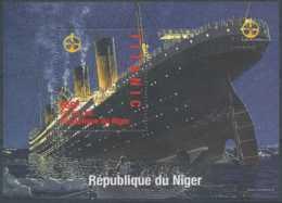 [36233]SUP//**/Mnh-Niger 1998 - Naufrage Du TITANIC - Sur Bloc Feuillet Montrant Tout Le Navire Qui Sombre - Niger (1960-...)