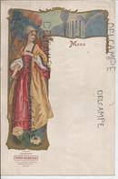 Menu Vierge. Champagne Piper-Heidsieck, Reims. Jeune Femme époque Louis XVI. - Menus