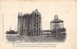 Laos - LUANG PRABANG - Echafaudage Pour La Construction Du Monument Où Fût Incénéré Le Roi Zaccharine - Ed.Union Commerc - Laos
