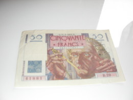 50 Francs Le Verrier 1946 - Monnaies & Billets