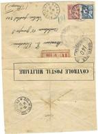 Contrôle Postal Militaire - Lettre Recommandée De Port-Saïd à Destination Du Secteur Postal 200 En France 11.11.1916 - Guerre De 1914-18