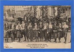 72 SARTHE - CHATEAU DU LOIR Cavalcade De Bienfaisance Du 26 Mars 1911, Chars D'Espagnols Et Tziganes - Chateau Du Loir