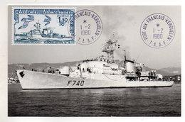 TAAF - FSAT - 1980 - CARTE MAXIMUM- AVISO COMMANDANT BOURDAIS - BATEAUX - SHIPS - 01/01/79 A PORT AUX FRANCAIS KERGUELEN - Tierras Australes Y Antárticas Francesas (TAAF)
