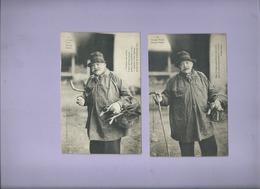 2 CPA - Le Courrier Picard - Maurice Thiéry -  ( M. Souillard Photo édit Peronne ) - France
