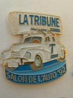 Pin's GENEVE - SALON DE L'AUTO 92 - LA TRIBUNE DE GENEVE - Autres