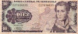 VENEZUELA 10 BOLIVARES 1981 P-60a CIRC. - Venezuela