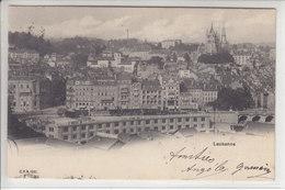 LAUSANNE - LA BANANE ET LES TRAINS EN DESSUS - DOS UNIQUE - 6.08.04 - VD Vaud
