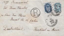 Russia Latvia Germany Registered Stationery Cover MITAVA To FFRANKFURT 1894 (v70) - 1857-1916 Empire