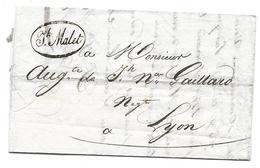 MONTPELLIER LYON 1823 - DE MALET A GAILLARD - LETTRE - 1801-1848: Précurseurs XIX