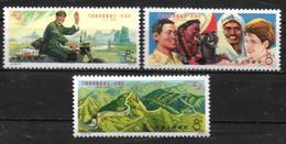 CHINE  N° 1923/25  * * ( Cote 19.50e )  Upu Facteur Moto Cinq Races Muraille De Chine - U.P.U.