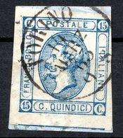ITALIE (Royaume) - 1863 - N° 10 - 15 C. Bleu - (Effigie De Victor-Emmanuel II En Relief) - 1900-44 Vittorio Emanuele III