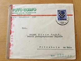 FL3534 Kroatien Brief Von Zagreb Nach Flörsheim OKW-Zensur - Croatie