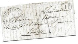 CHATEAUNEUF EN THYMERAIS PARIS 1833 - POUR VASSEUR 16 RUE DE L ABBAYE - LETTRE MARQUE POSTALE - Marcophilie (Lettres)