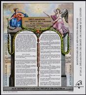 Frankreich, 1989, MiNr. 2728/31 Block 9, MNH **,  Französischen Revolution, - Mint/Hinged