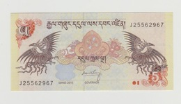 Bankbiljet Bhutan 5 Ngultrum 2013 UNC - Bhoutan