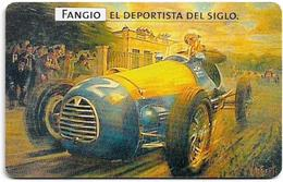Argentina - Telefónica - Juan Manuel Fangio Cars 4/8, 07.1999 - 50.000ex, Used - Argentinien