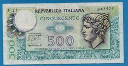 ITALIA 500 Lire20.12.1976# V21  947575 P# 95 - [ 2] 1946-… : Repubblica