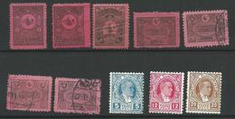 TURQUIE Taxe 1901/1936 - 10 Timbres Lot 3 - Tous Differents Voir DETAIL ANNONCE - 1921-... République