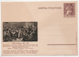 Polen 1938 Ganzsache Cp 86-4 Piotr Skarga Postfrisch; Poland Postal Stationery Mint Kartka Pocztowa - Stamped Stationery