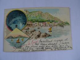 CPA ITALIE Souvenir De Capri Début 1900 Dos Simple  TBE - Napoli (Naples)