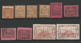 TURQUIE Taxe 1865/1914 - 10 Timbres Lot 5 - Tous Differents Voir DETAIL ANNONCE - 1921-... République