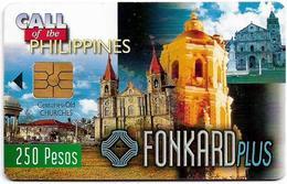 Philippines - PLDT (Chip) - Old Churches - Exp.30.06.1999, Chip Gem2 Black, 250₱, Mint - Philippinen