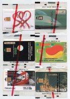 6  TELECARTES  PRIVEES  PUBLIQUES - Schede Telefoniche