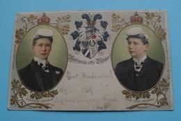 Kronprinz WILHELM & Prinz EITEL FRIEDRICH ( Borussia Sei's Panier !) Anno 1903 ( Zie Foto Voor Details ) Dep 11909 ! - Königshäuser
