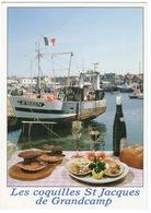 """CPM RECETTE """"LES COQUILLES SAINT JACQUES DE GRANDCAMP"""" - Recettes (cuisine)"""
