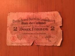 Bon De Caisse 2 Francs Luxembourg - Luxembourg