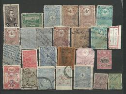 TURQUIE Fiscaux Autres + Surcharges - 26 Timbres Lot 7 - Tous Differents Voir DETAIL ANNONCE - 1921-... République