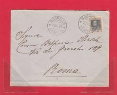 REGNO 149A - Lettera Ordinaria (interessante Il Francobollo), Viagg. Nel 1928 Da Scopello A Roma - Storia Postale