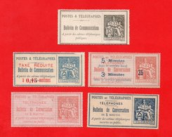 Lot De 5 Bulletins De Conversation FRANCE Neufs - Collections