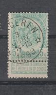 COB 56 Oblitération Centrale Relais étoile * OORDEREN * - 1893-1907 Coat Of Arms