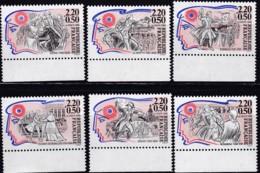 Frankreich, 1989, Mi.Nr. 2700/05 A, MNH **, Persönlichkeiten - France