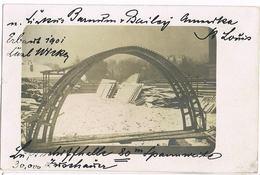 Foto-AK St. Louis/USA, Luftschiffhalle 1911 - Zeppeline
