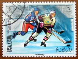 1970 RAS AL KHAIMA Sport Olimpiadi Invernali Sapporo Ice Hockey - 6r Usato - Ra's Al-Chaima