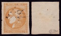 France N° 43 Ba Obl. GC Signé Calves - TTB Qualité - 1870 Emisión De Bordeaux