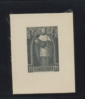350  Cardinal Mercier. Tirage En Noir Sur Soie (naturelle) Sans Charnière  Exceptionnel - Feuillets Ministériels