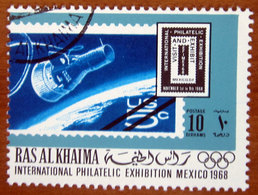 1969 RAS AL KHAIMA Filatelia EFIMEX Messico Stamp Of USA MiNr.931 - Spazio - 10d Usato - Ra's Al-Chaima
