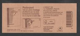 """Timbre - Carnet  - N°852 - C1 -  Type Marianne De Ciappa - Pour Guichet - """" Postexport""""   12 T - Carnets"""